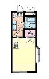 神奈川県横浜市港北区高田東2丁目の賃貸アパートの間取り