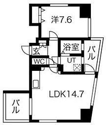 La Facade[8階]の間取り