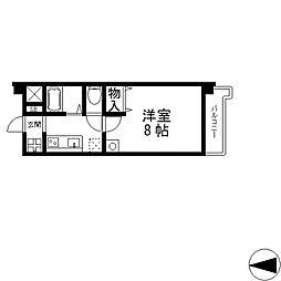 ブルーメンハウス[204号室号室]の間取り