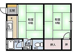 [一戸建] 大阪府大阪市鶴見区今津南2丁目 の賃貸【/】の間取り