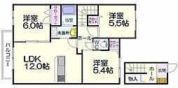 シャーメゾン空港南弐番館[2階]の間取り