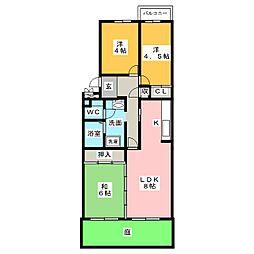 徳重団地5号棟[1階]の間取り
