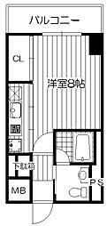 Osaka Metro長堀鶴見緑地線 西長堀駅 徒歩5分の賃貸マンション 9階1Kの間取り