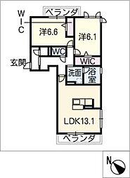 GrandC'estlavie[2階]の間取り