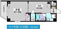 Jクレスト・ドーム前[3階]の間取り