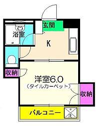 東京都江東区大島1丁目の賃貸マンションの間取り