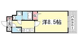 エスティロアール神戸駅前[11階]の間取り