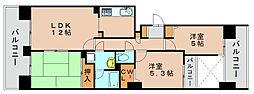 のむら貝塚ガーデンシティ六番館[2階]の間取り