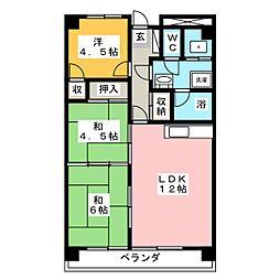 第2サンハイツ青森[4階]の間取り