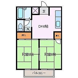 三重県四日市市芝田1丁目の賃貸マンションの間取り