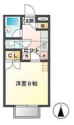 ファンタジー21 D[2階]の間取り
