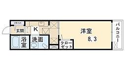 鶴野リバーサイドテラス[208号室]の間取り