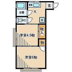 東京都府中市本町1丁目の賃貸マンションの間取り