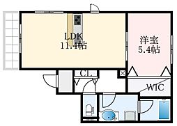 (仮称)堺市東区野尻町計画 3階1LDKの間取り