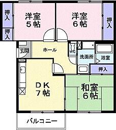 メゾングル−ク[3階]の間取り