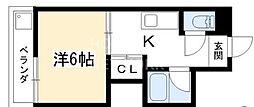 コーポ上野[201号室号室]の間取り