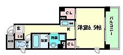 W.O.B.AWAZA[8階]の間取り