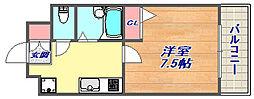 ブロスコート六甲2[3階]の間取り