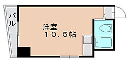 東峰マンション県庁前[9階]の間取り
