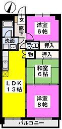クレストG34[7階]の間取り