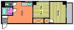 広島県広島市中区本川町2丁目の賃貸マンションの間取り