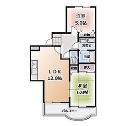ゆきマンション[204号室]の間取り