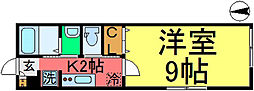 ハイツアヅミノ[201号室]の間取り