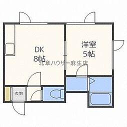 北海道札幌市北区北三十二条西7丁目の賃貸アパートの間取り