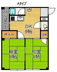 たきがわマンション[4階]の間取り