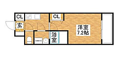 S-RESIDENCE新大阪WEST[11階]の間取り