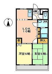 ピア・ルミナス2番館[2階]の間取り