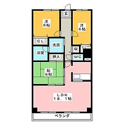 グランハート[5階]の間取り