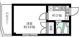 神奈川県川崎市多摩区三田2丁目の賃貸マンションの間取り