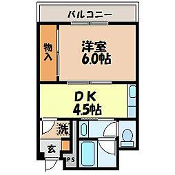 中古賀マンション[2階]の間取り