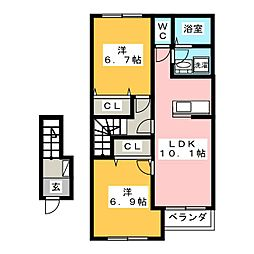 マリアージュIII[2階]の間取り