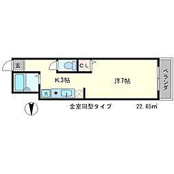 ウエストサイドコート[2階]の間取り