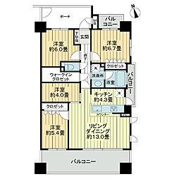 サーパス上野[4階]の間取り