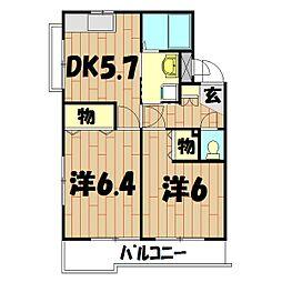 エス・ポワール(川島町)[102号室]の間取り
