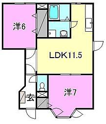 ヴィラ軽井沢B[102 号室号室]の間取り
