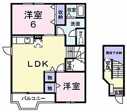 グレイスヴィラOHTAKE C[2階]の間取り