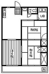 宮崎県宮崎市波島2丁目の賃貸アパートの間取り