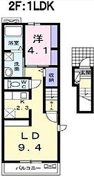 プティ ヴィラージュ 千田[2階]の間取り
