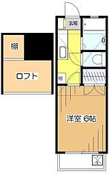東京都東村山市本町1丁目の賃貸アパートの間取り