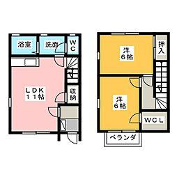 [テラスハウス] 静岡県浜松市中区葵西5丁目 の賃貸【/】の間取り