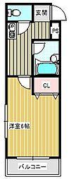 プチメゾン15[6階]の間取り