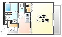 兵庫県神戸市垂水区山手3丁目の賃貸アパートの間取り