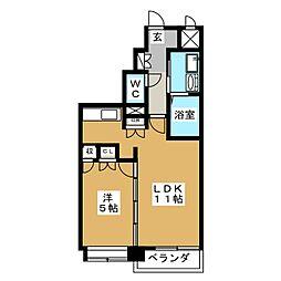 ディークレスト太子堂駅前East[11階]の間取り