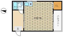 ロイヤルエール新神戸[4階]の間取り