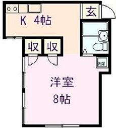 東京都足立区千住中居町の賃貸アパートの間取り