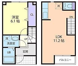 サイドパイン II B[2階]の間取り